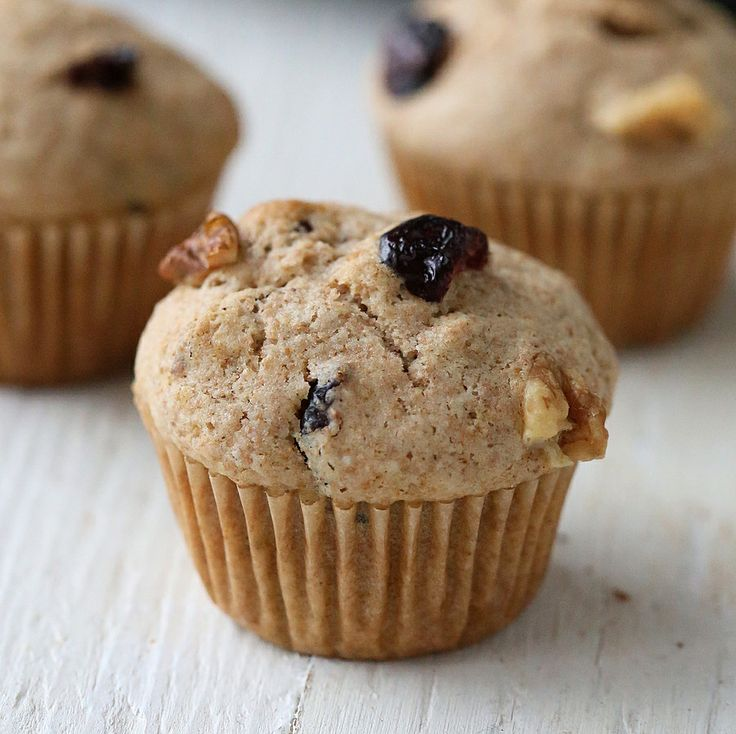 Cranberry Pecan Butter Muffins from Nut Butter Universe