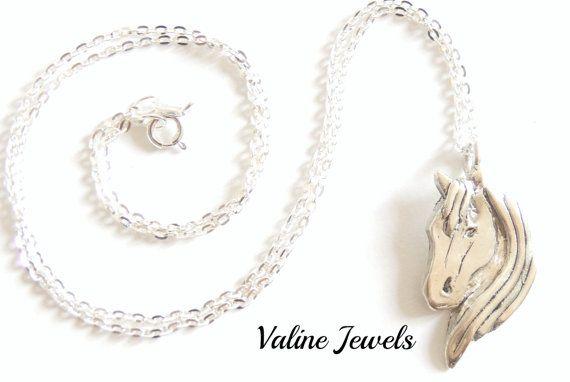 Collana con ciondolo Testa di Cavallo argento 925 di ValineJewels