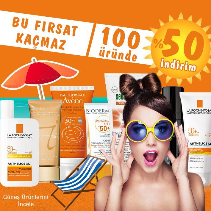 Turuncu Kasa da bu fırsat Kaçmaz, İnanılmaz İndirimler Güneş Ürünlerin de!  #turuncukasa #indirim #kozmetik