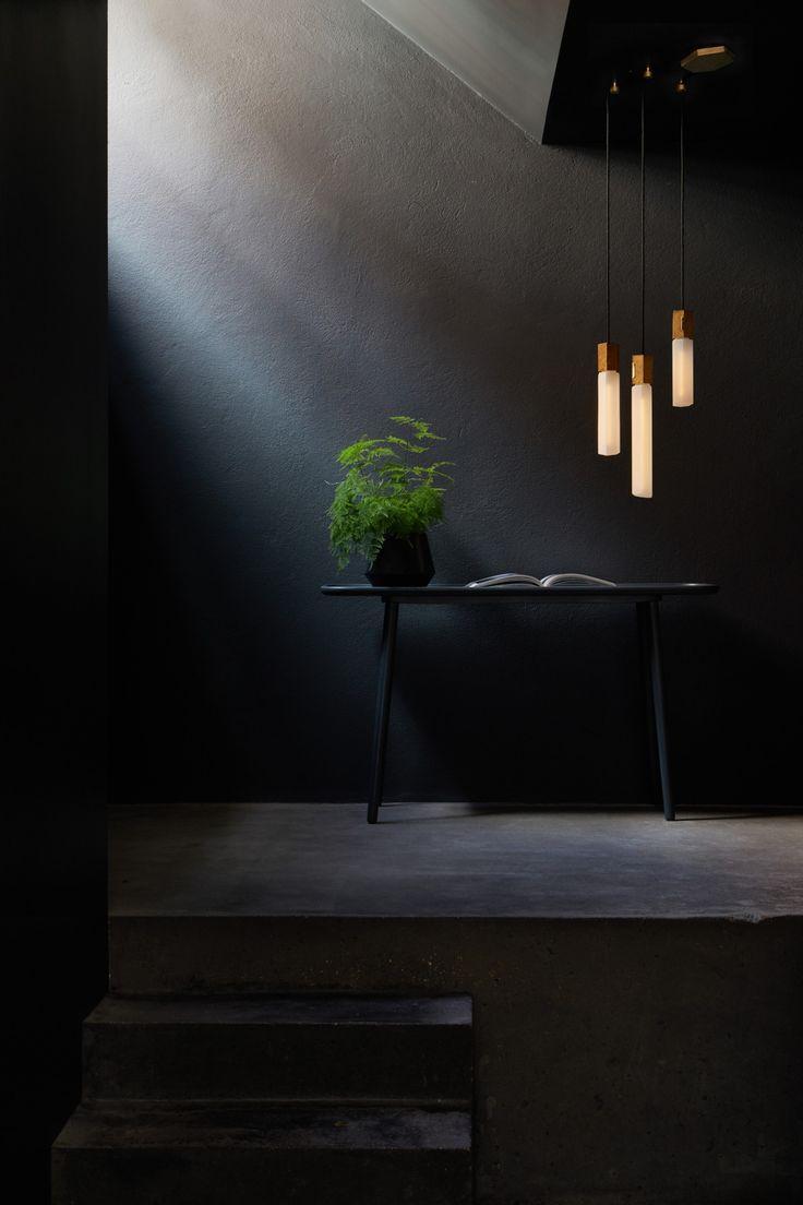 Basalt A Modular Lighting System By Tala Inspired By Rock Formations In Ireland Ceiling Light Design Lighting System Dark Interiors