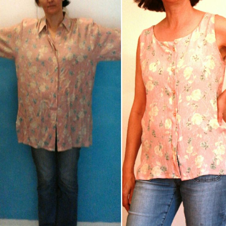 shirt refashion . #resize #refashion #before&after