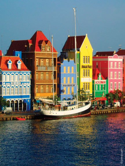 Willemstad, Curacao  Neat place to visit. Has a swinging bridge to let boats through.