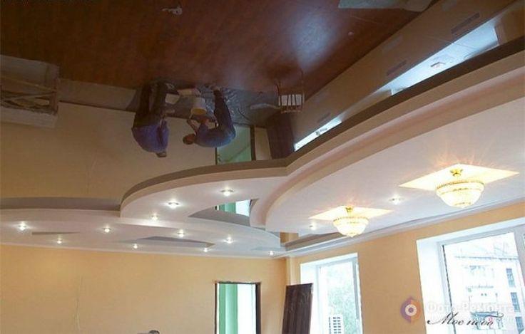 Натяжной потолок в гостиной: дизайн потолка