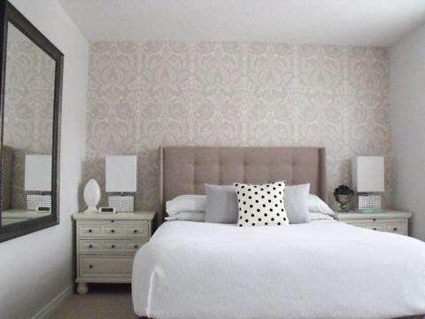 Love this neutral bedroom color scheme