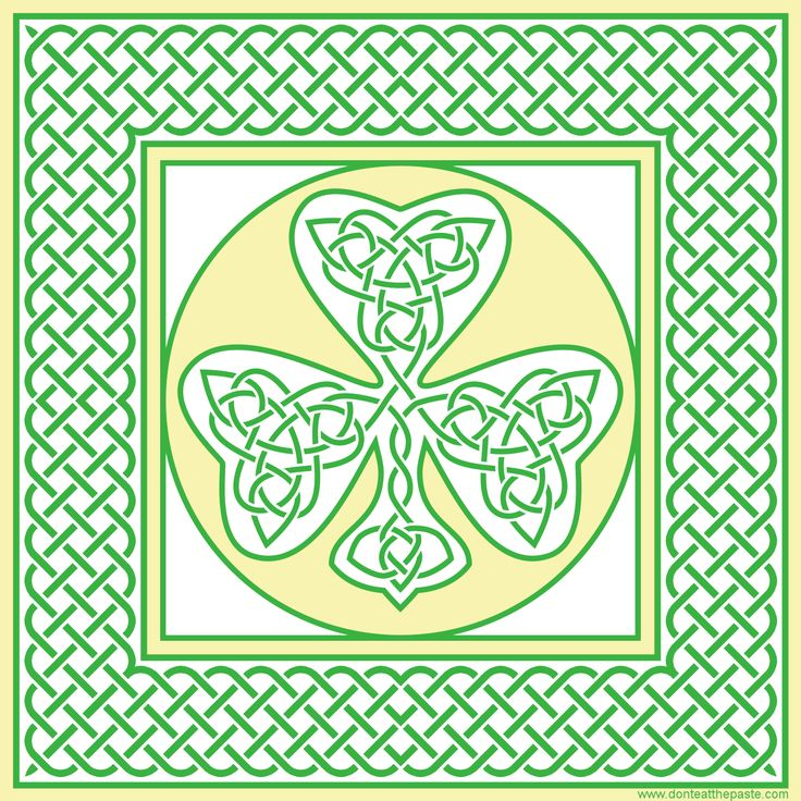 Shamrock Don't eat the Paste Free coloring pages