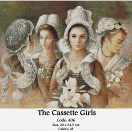 Needlepoint Cross Stitch Kit - The Cassette Girls