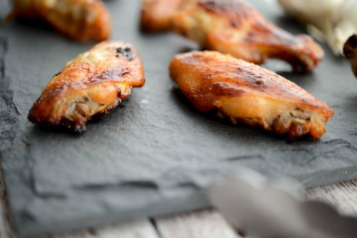 Baked Honey Garlic Chicken Wings Recipe with chicken wingettes, honey, garlic powder