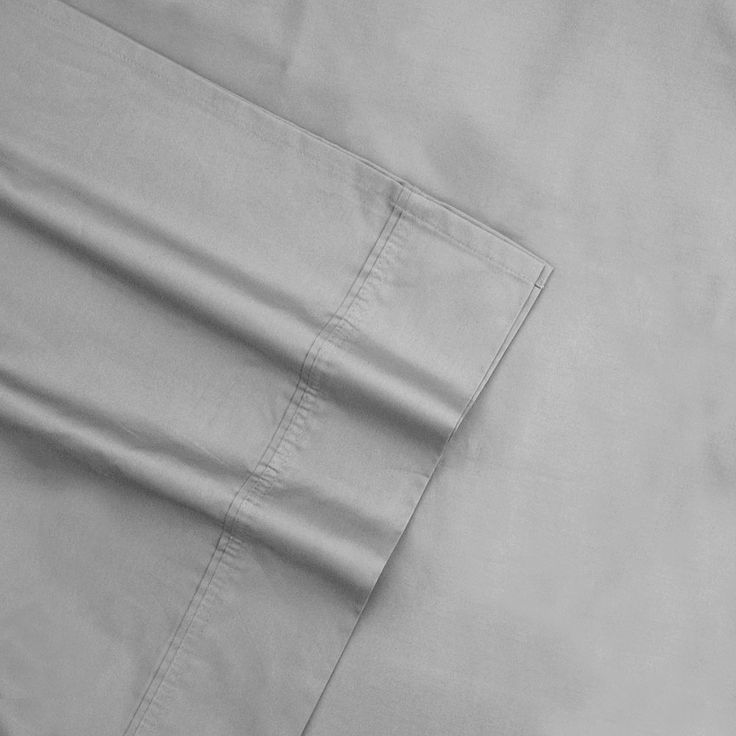 Sateen 600-Thread Count Egyptian Cotton Deep-Pocket Sheets, Grey Cal King