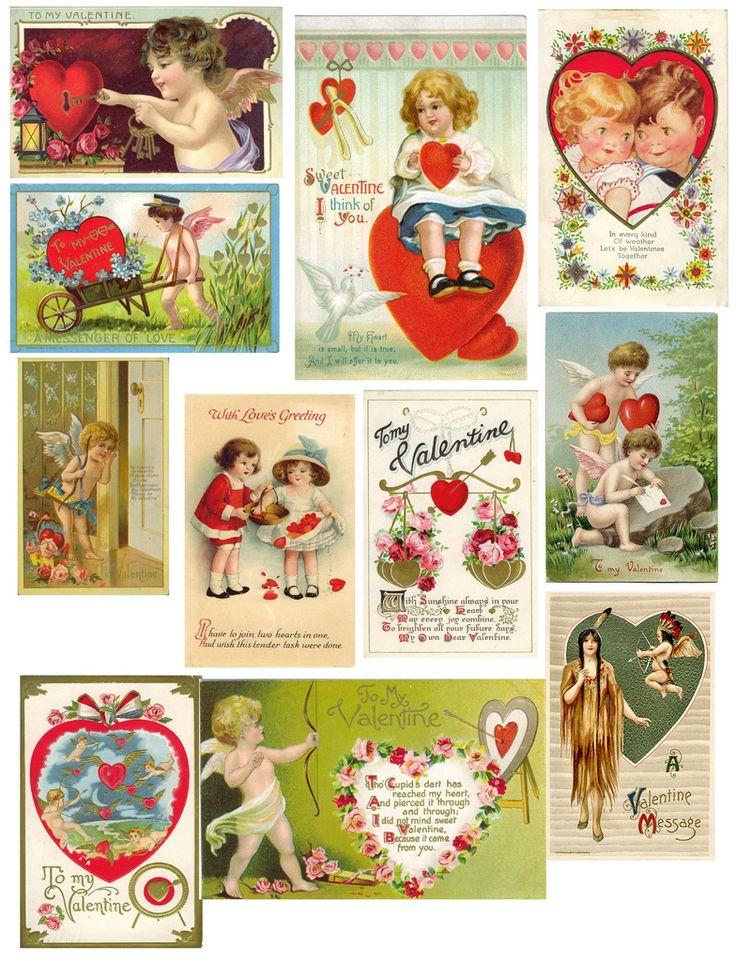 345 best Vintage valentines images on Pinterest  Cards Love and