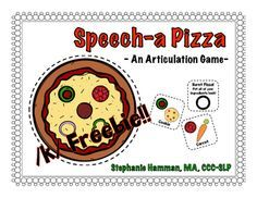 Free! Speecha Pizza Articulation Game - /k/