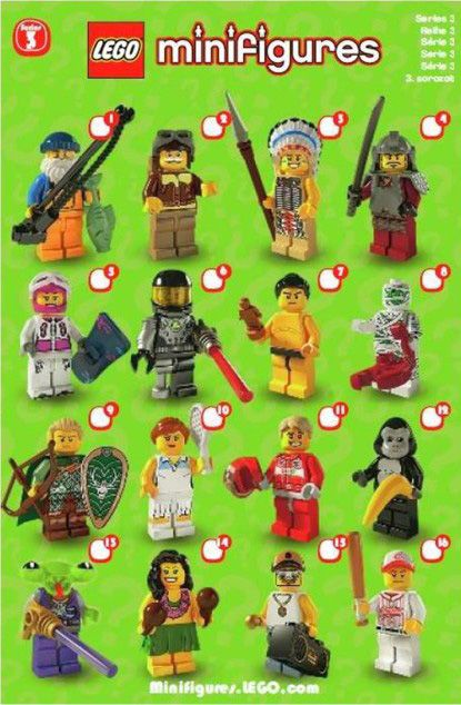 8803: LEGO Minifigures Series 3 Checklist