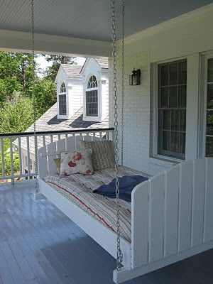 A regular old porch swing would do, but an outdoor swing bed
