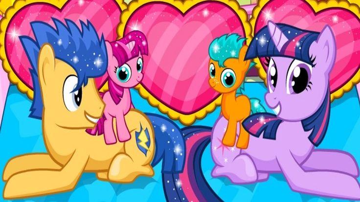 Em Twilight Sparkle Parto de Gêmeos, Twilight Sparkle está gravida e para sua feliz surpresa são gêmeos. Ela esta muito animada, mas precisa muito de sua ajuda e cuidados para o nascimento de seus bebes. Ajude Twilight Sparkle ficar tranquila e use suas habilidades medicas para cuidar dela no parto. Depois, ajude-a a cuidar dos gêmeos. Divirta-se com My Little Pony!