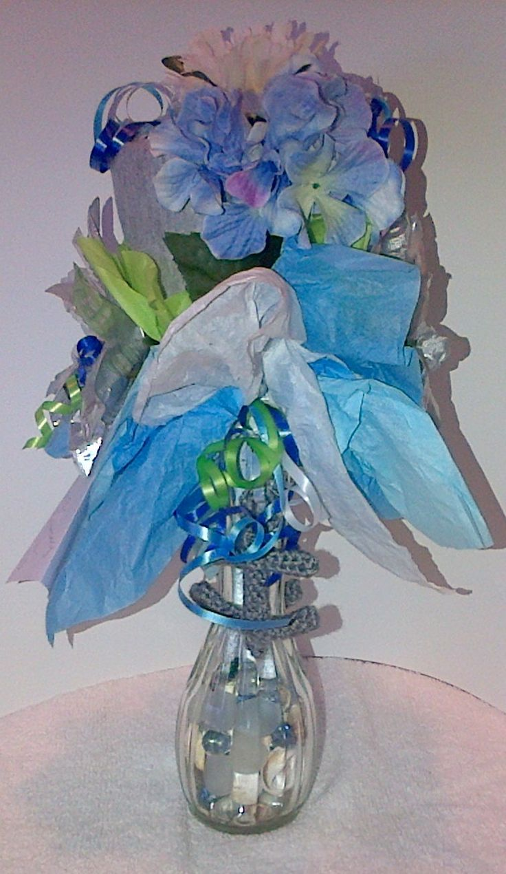 Right Side of Small Onesie Bouquet