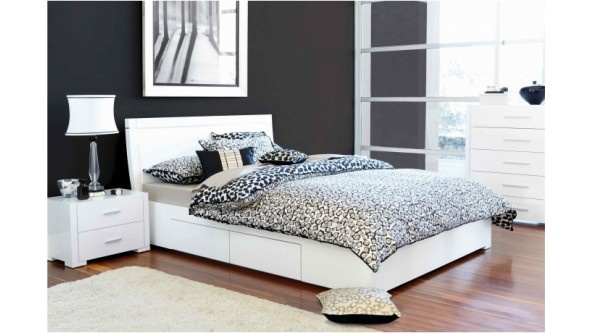 Blanco queen bed with storage drawers bedroom furniture harvey norman australia for the - Harvey norman bedroom sets ...