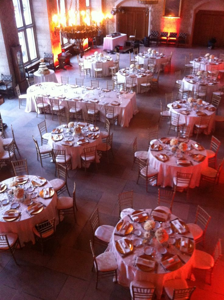 Enriched Events Wedding - Banff Springs Hotel www.enrichedevents.ca  Overhead shot of Mount Stephen's hall