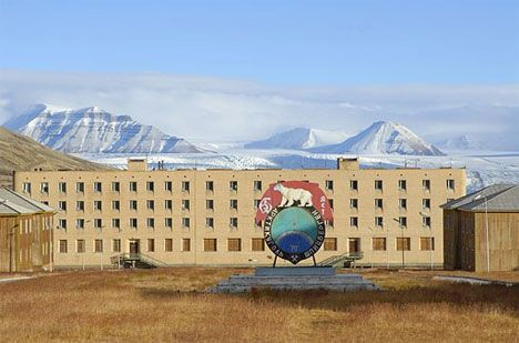 "Calling all documentary makers | The highly acclaimed iDoc Pine Point (see iFilms board), hit a sweet spot. Yet its topic of an abandoned town is not unique. Courtesy of Web Urbanist, Pyramiden is in a series of pins on potential documentary film material.  What an intriguing back story: ""coal-mining town sold by Sweden to the former Soviet Union in the early 1920s""."