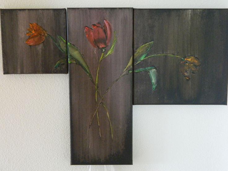 20x20/20x50/30x30 Drieluik Tulp Art. Sjoerd F Talsma