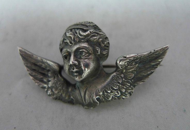 Victorian Norwegian Arts Crafts Silver Cherub Brooch Henrik Moller Trondheim   eBay