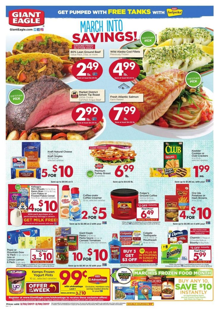 Giant Eagle Weekly Ad Circular Mar 2 - 8 United States #grocery #GiantEagle #USA