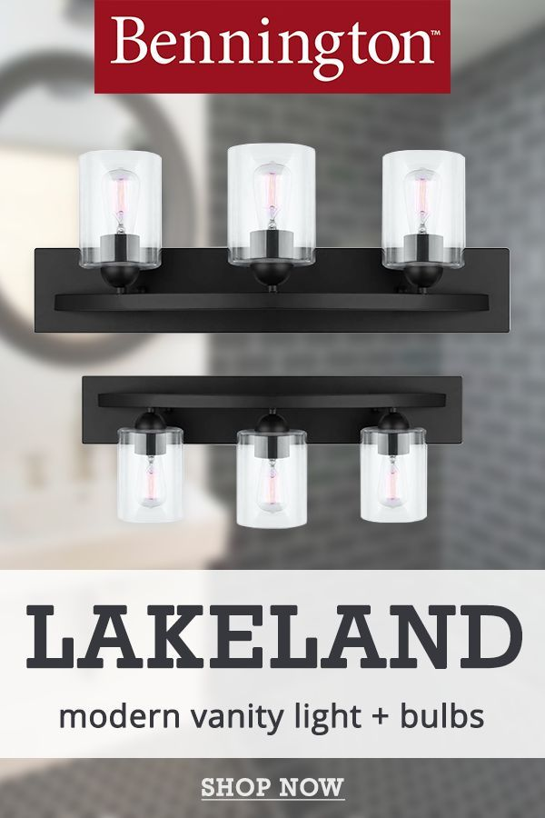 Bennington Lakeland 3 Globe Vanity Bath Light Bar With Bulbs Clear Glass Matte Black In 2020 Vanity Lighting Vanity Light Bulbs Modern Vanity Lighting