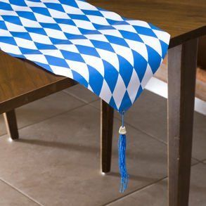"""Oktoberfest Table Runner by Century Novelty. $4.79. Celebrate Oktoberfest in Style! The Oktoberfest table runner is the perfect way to start your Oktoberfest party off right. Give your party tables Oktoberfest style with this Oktoberfest table decoration. 6' long and 11"""" wide. Made of thin cardstock. Oktoberfest party favors, supplies and decorations are just what you need to get your Oktoberfest party started. Make sure to get everything you need to celebrate Oktoberfest right! ..."""