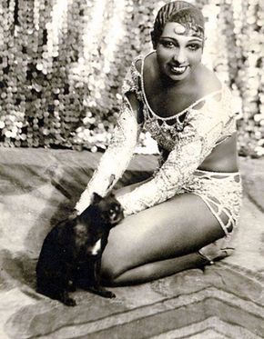 """Josephine Baker (1906-1975) was a French dancer, jazz and pop music singer, and actress, who came to be known in various circles as the """"Bla..."""