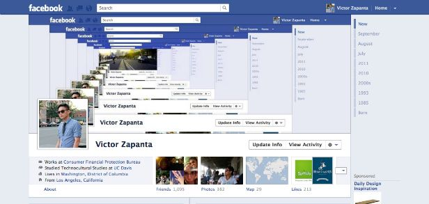 Inception-style facebook profile - so awesome!