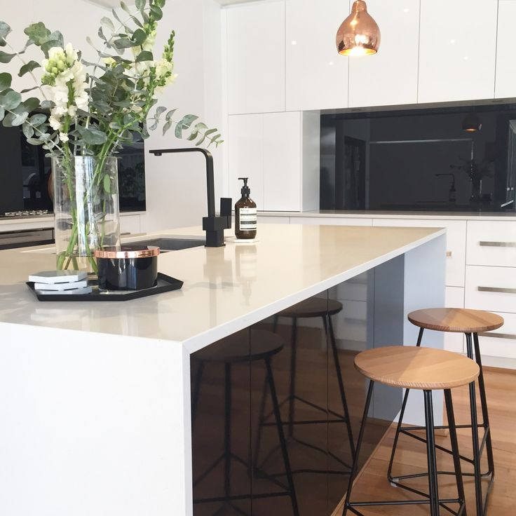 Meir Australia Matte Black Tapware. Get the look at www.meir.com.au/. #matteblack #blacktapware #MeirAustralia #kitchen