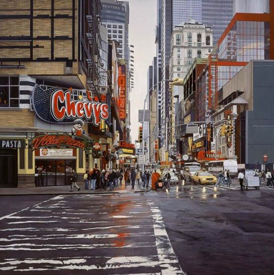 Best Hyper Realistic Arts Paintings Images On Pinterest - Astonishing photorealistic paintings of places seen through wet car windshields