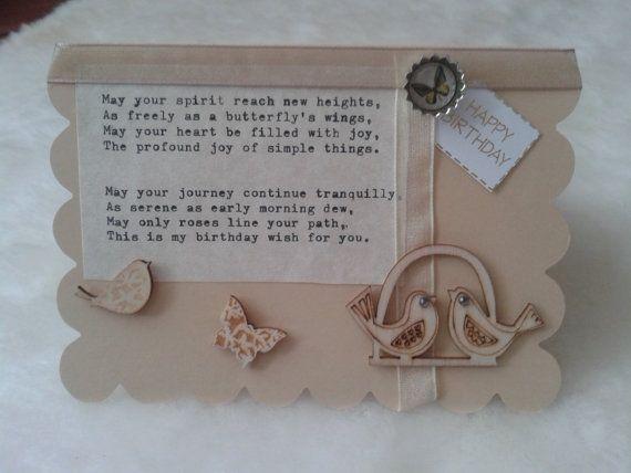 Luxury hand-typed hand-crafted birthday card by kokoandginger