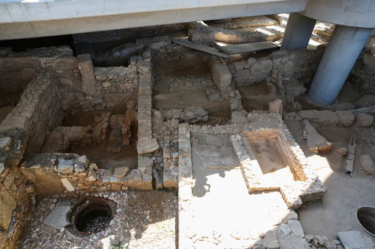 Ruínas encontradas na construção do Museu de Acrópole, Atenas - Dicas Básicas da Capital da Grécia,