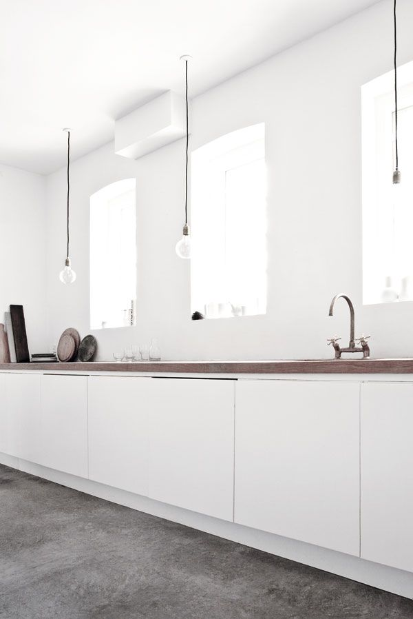 #kitchen design #minimalism #contemporary #white