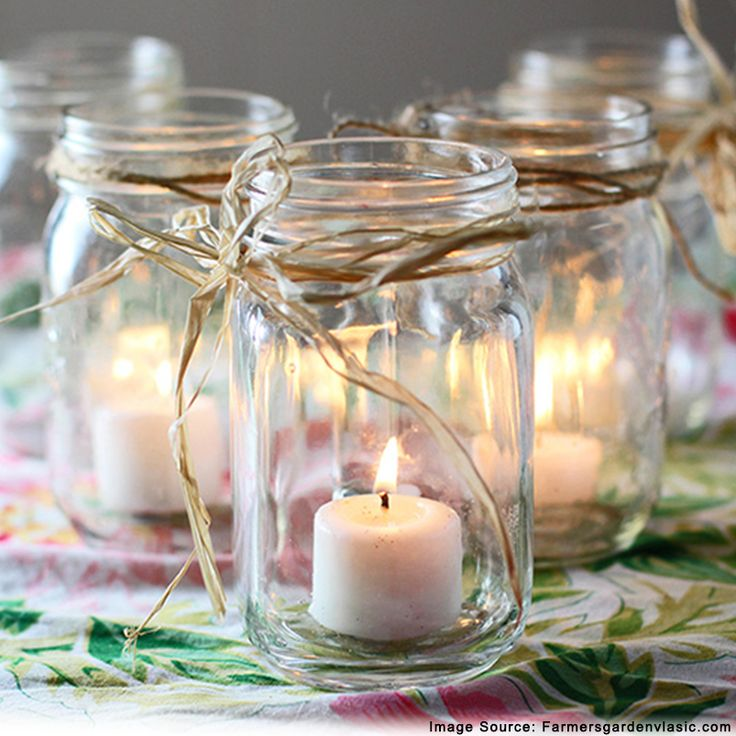 How about placing a candle in a  jar in an innovative way? Decorate your home today!