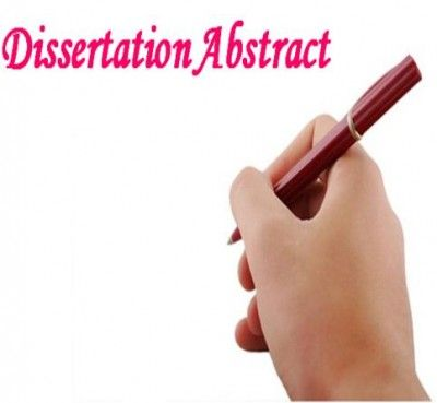 how to write abstract for thesis
