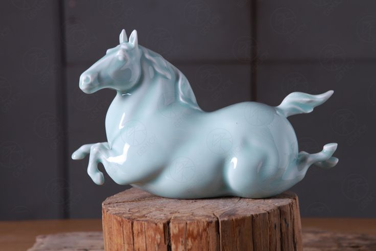 Yan fat horse riding horse riding success to the new Chinese contemporary  Chinese ornaments Chinese celadon
