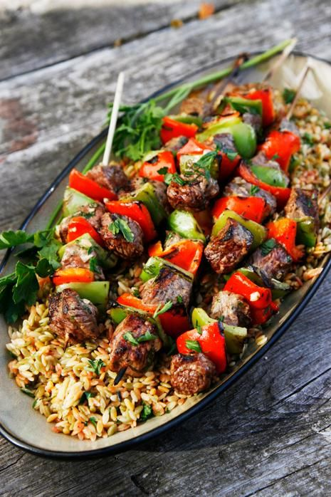 Sizzling Summer Beef Kabobs Recipe I wonder what kind of beef this is going to go the to the website lol