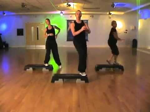 Степ аэробика. Упражнения для похудения - YouTube