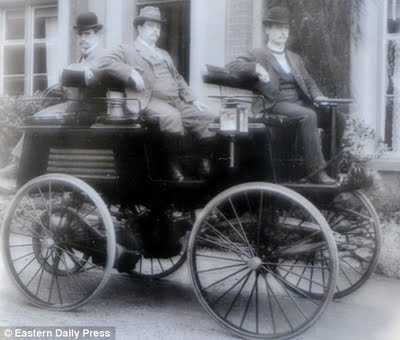 The world's first electric car... built by a British inventor in 1884