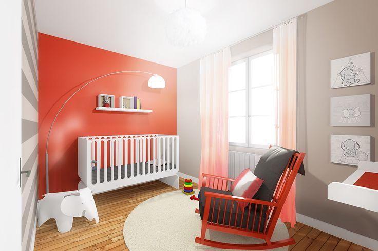 baby room - chambre de bébé - corail BOULIGNY-SANSON Architecture