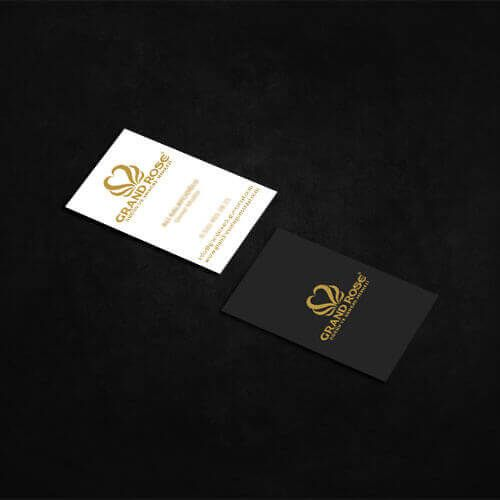 Grand Rose Düğün Salonu - Kartvizit Tasarımı - Business Card Design - Wedding Hall