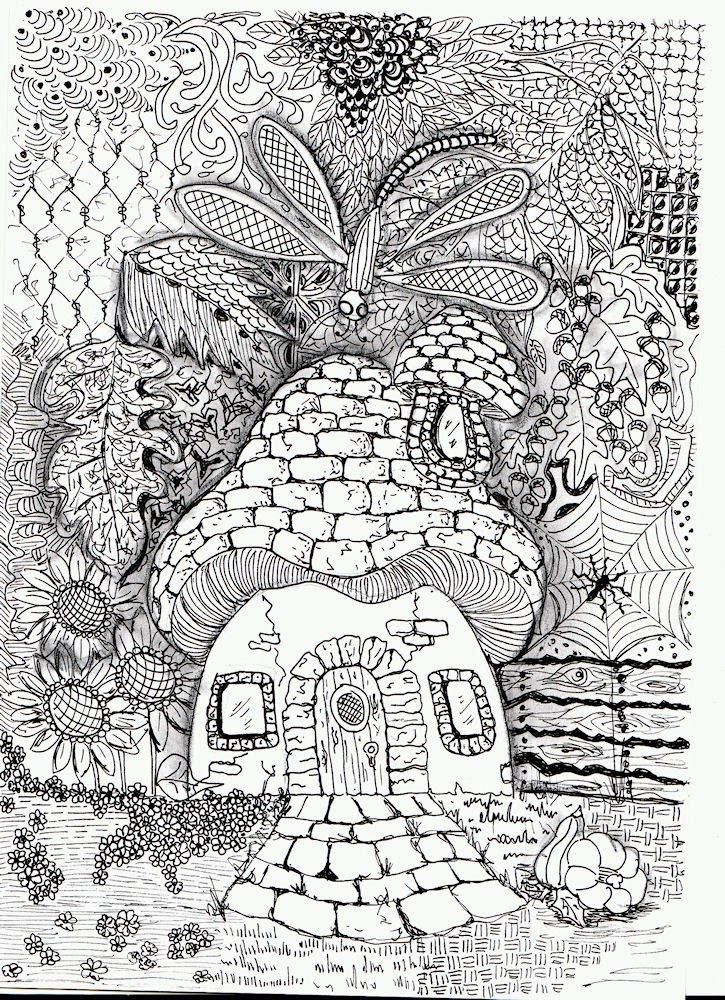 17 Best images about Zentangle--houses on Pinterest ... How To Draw A Cool Tree House