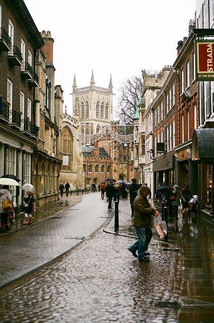 Seen - Cambridge, England. A drop of rain just makes it more beautiful