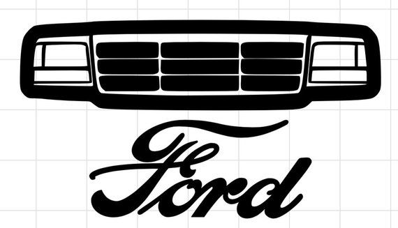 Obs Ford Grill Sticker Laptop Mirror Window Laptop Stickers Window Mirror Stickers