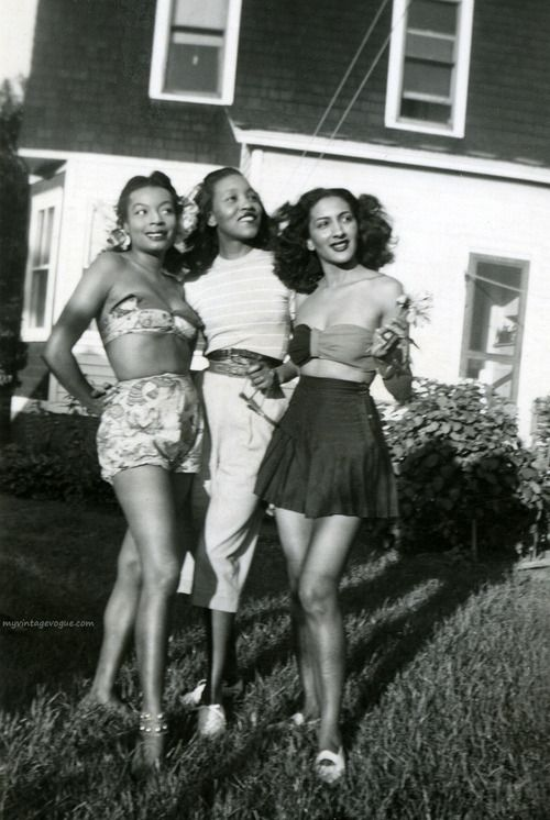 1940s. Love this photos remind mee of photos I have seen of my mom and her friends before I was born .