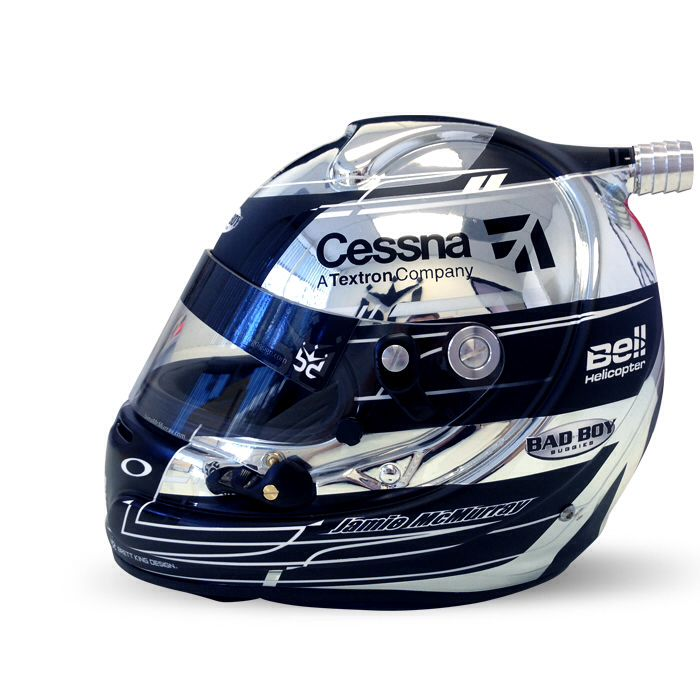 Brett King designed racing helmet.
