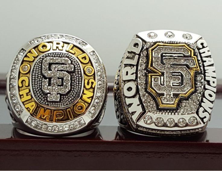 2 PCS 2010 2014 San Francisco Giants MLB world series championship ring 8-14S copper solid back ingraved inside