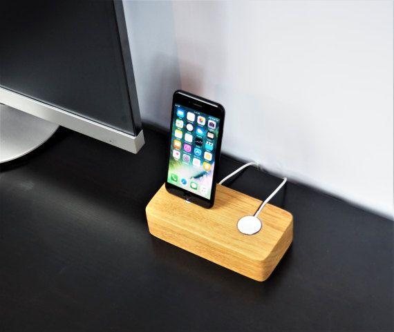 iPhone  apple watch docking station  phone watch dock by OakyDocky