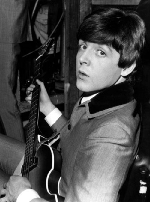 1964 - Paul McCartney in A Hard Day's Night film (backstage photo).