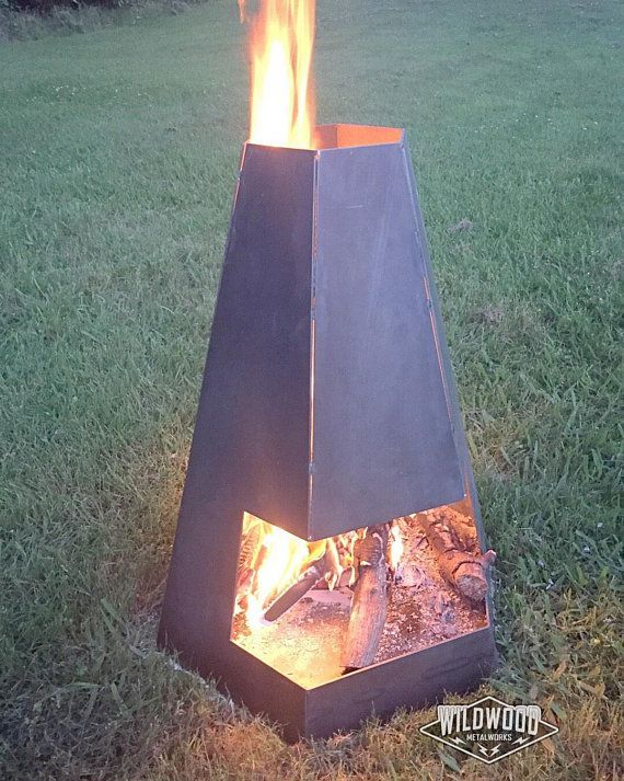 Hexagonal Chiminea Fire Pit Chiminea Fire Pit Outdoor Fire Pit Diy Fire Pit